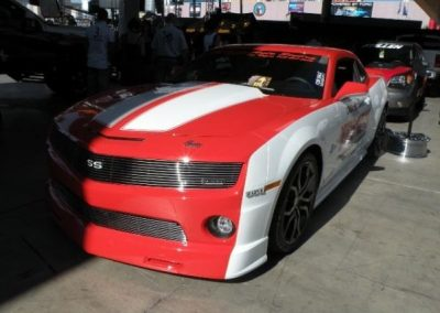 Could this be the 2010 Indy 500 Pace Car?  The car was @ 09 SEMA - had a for sale sign on it   Not sure if it's real or a concept??