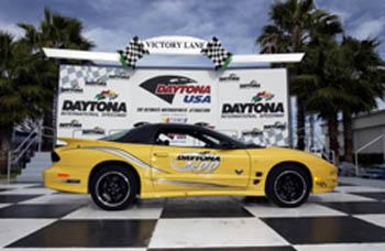 2002 Daytona 500 - Jay Leno drove