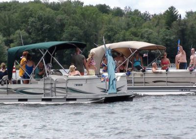 July 4th Boat Parade - Our Premier Pontoon (far boat)