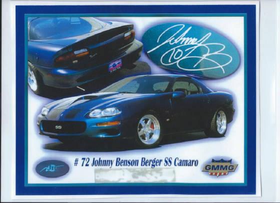 2002 Johnny Benson Berger SS #72 (Chrome Illusion)